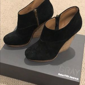 GRAY by Saks Fifth Avenue black booties
